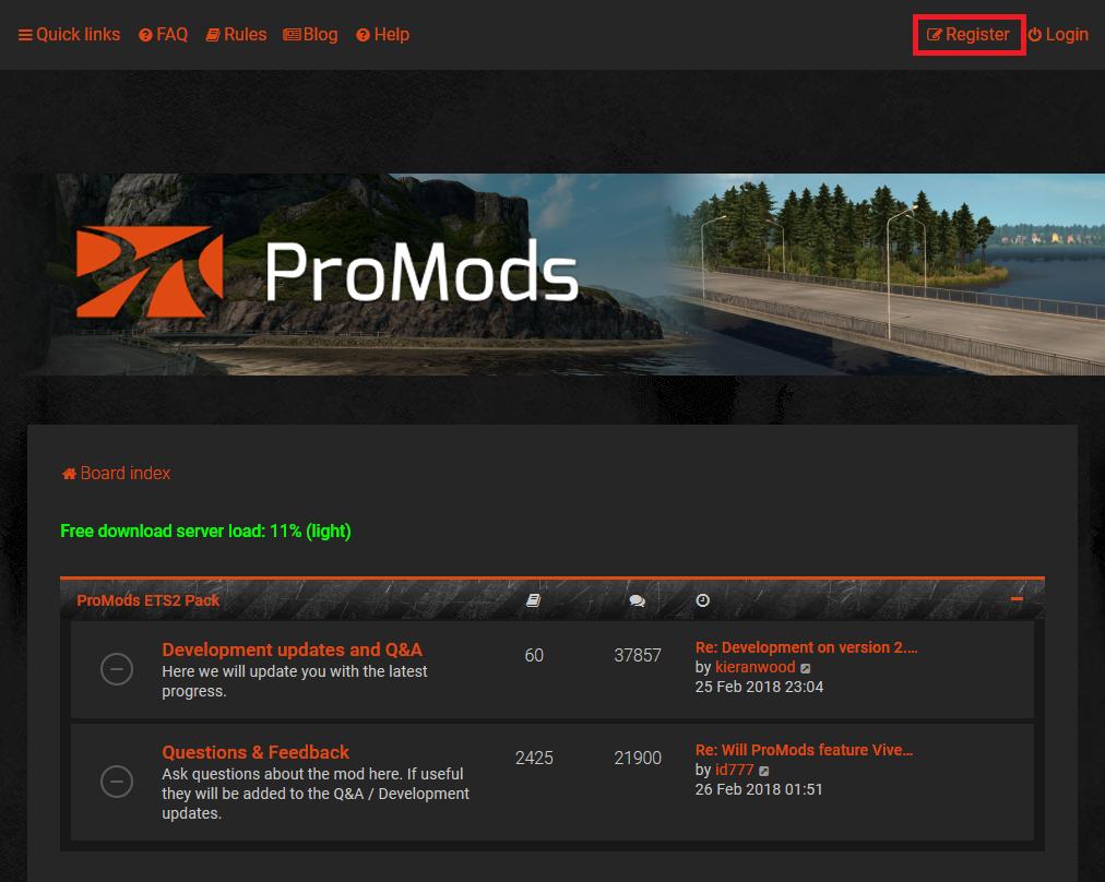 ProModsを導入してETS2のマップを拡張